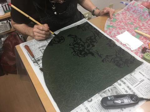 ろうけつ染リュック レザークラフ教室 革工芸教室