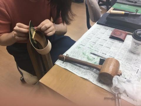 体験受講 レザークラフト教室 革工芸教室