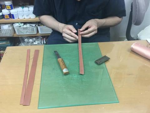 首輪 レザークラフト教室 革工芸教室