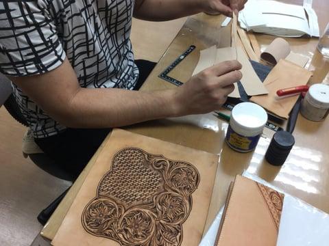 ウォレット レザークラフト教室 革工芸教室