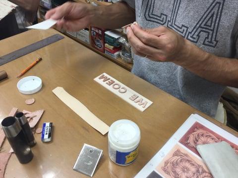 パッキング−1 レザークラフト教室 革工芸教室