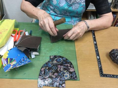 がま口バッグ レザークラフト教室 革工芸教室