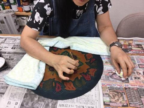 色差し レザークラフト教室 革工芸教室