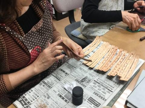 ファスナーペンケース レザークラフト教室 革工芸教室