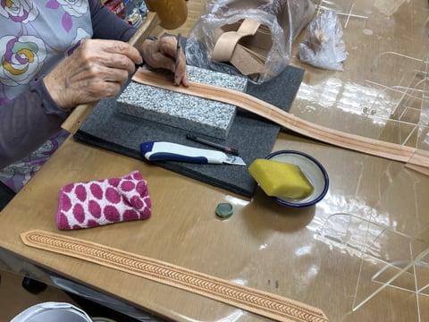 スタンピング レザークラフト教室 革工芸教室