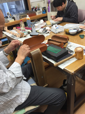 レザークラフト教室 第3日曜クラス 手縫い