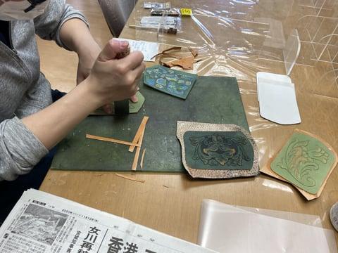 キーケース仕立 レザークラフト教室 革工芸教室