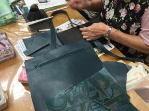 レザークラフト 木曜クラス バッグ制作