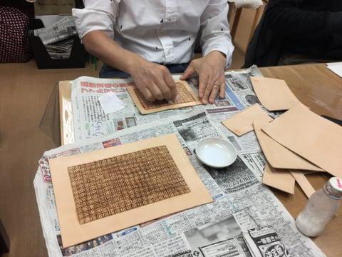 スタンピング レザークラフ 教室 革工芸教室