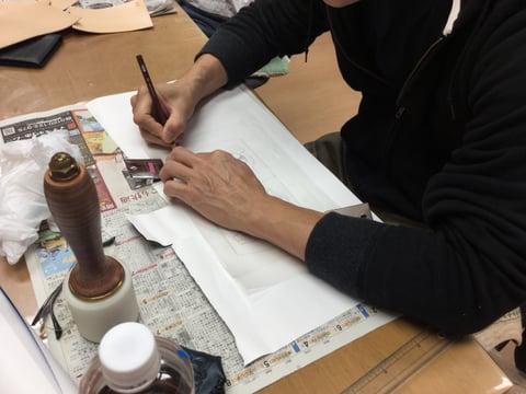 図案トレス レザークラフ 教室 革工芸教室
