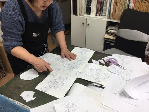 図案作り レザークラフ 教室 革工芸教室