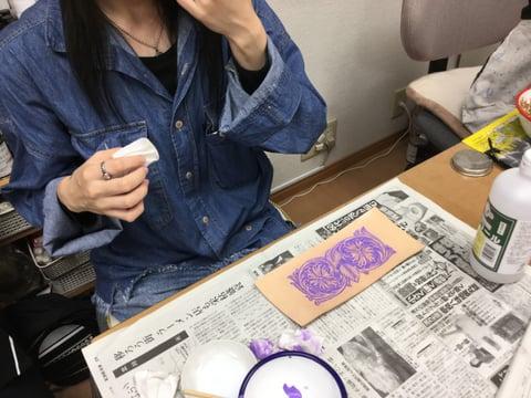 錆入れ レザークラフ 教室 革工芸教室