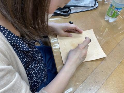 オリジナルカービング レザークラフト教室 革工芸教室