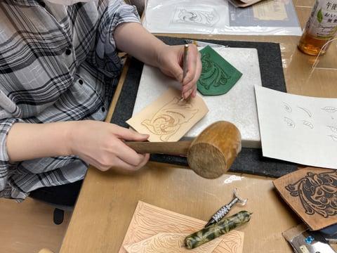 キーホルダーカービングレザークラフト教室 革工芸教室