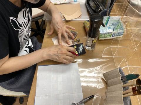 猫の目のカービング レザークラフト教室 革工芸教室
