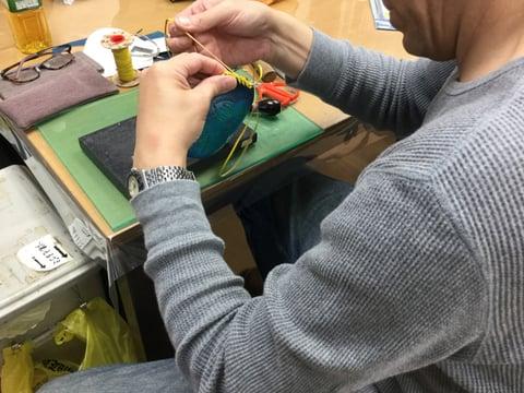 レースかがり レザークラフト教室 革工芸教室