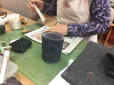 メガネスタンド レザークラフト教室 革工芸教室