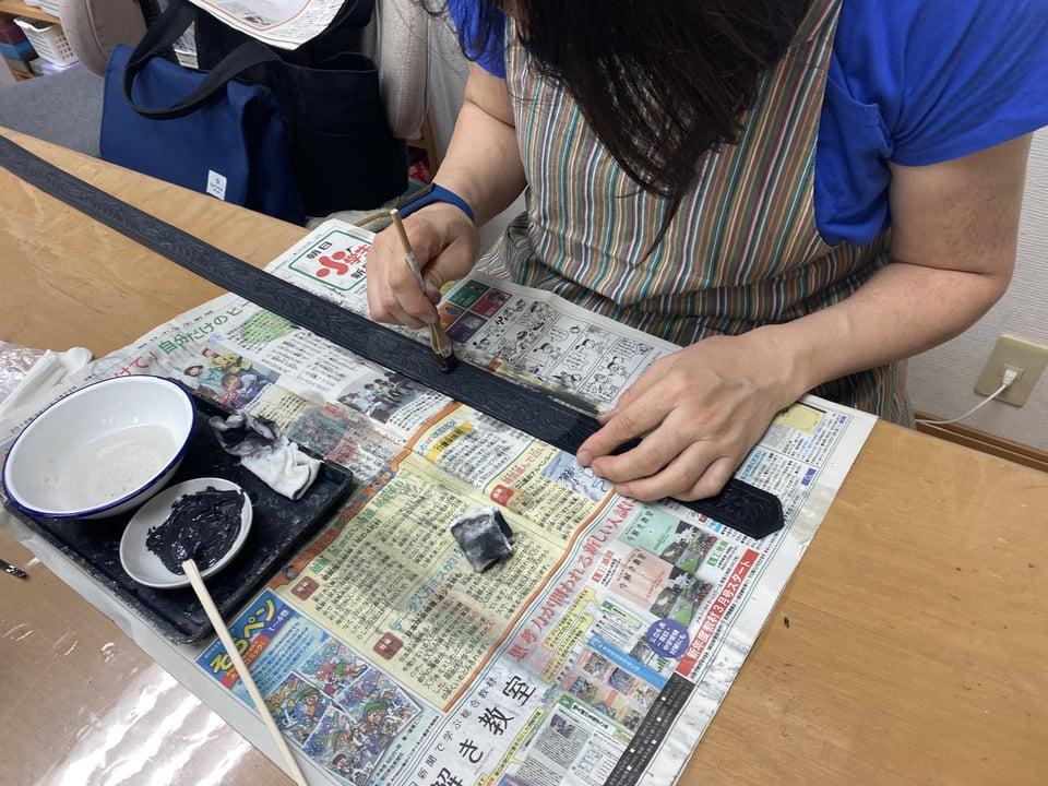 ベルト染色 レザークラフト教室 革工芸教室