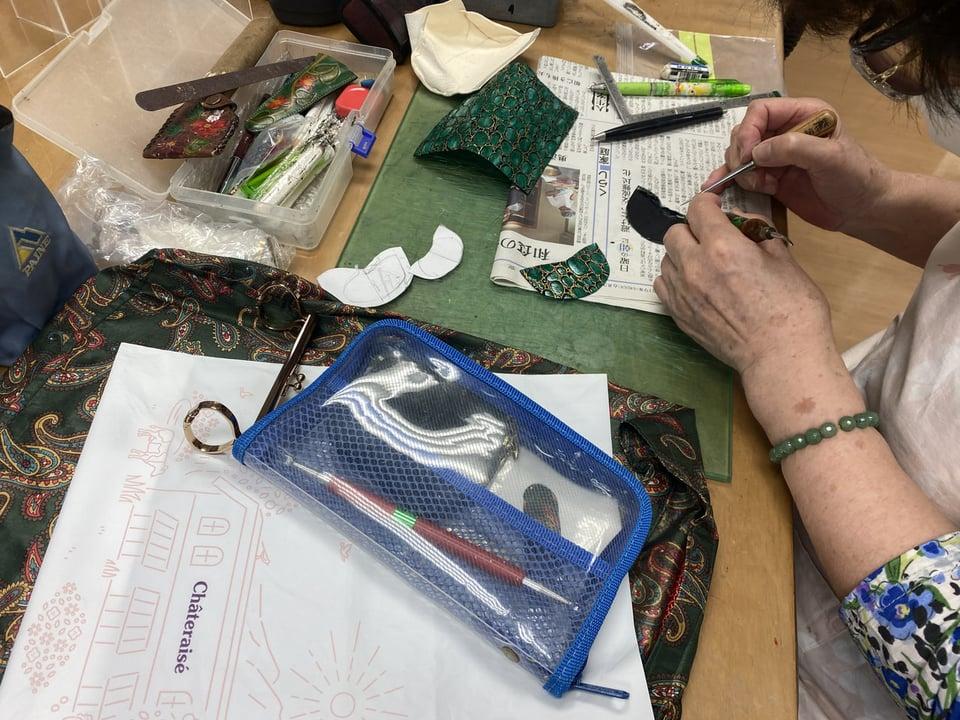 コインボックス 仕立て レザークラフト教室 革工芸教室