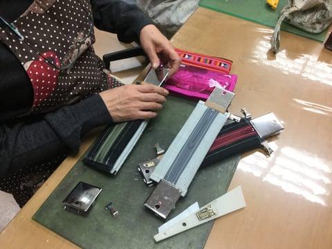 ペンケース仕立て レザークラフト教室 革工芸教室