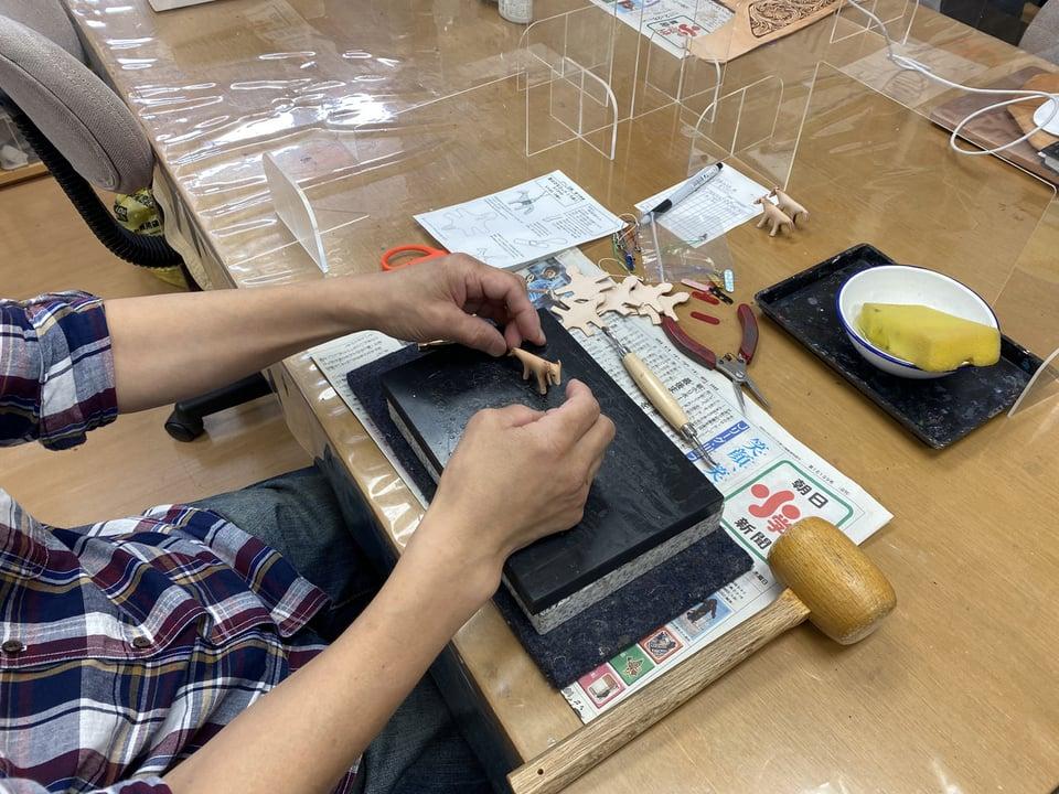 馬のストラップ レザークラフト教室 革工芸教室