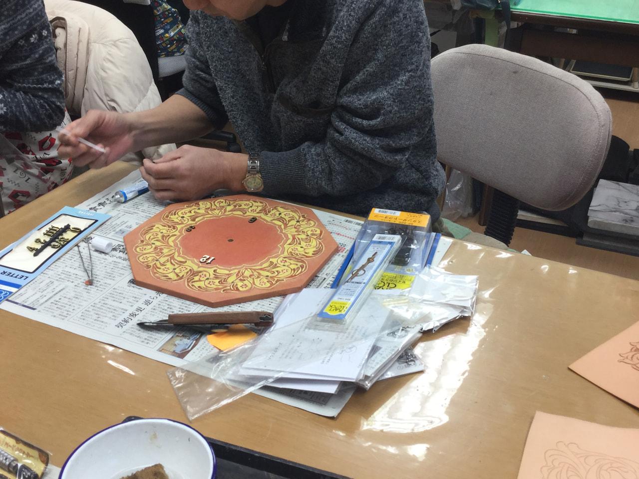 レザークラフト教室 日曜クラス12月2回目