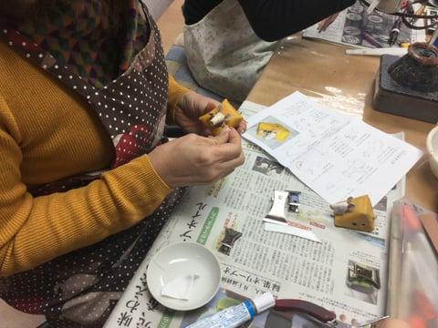 干支の置物 レザークラフト教室 革工芸教室