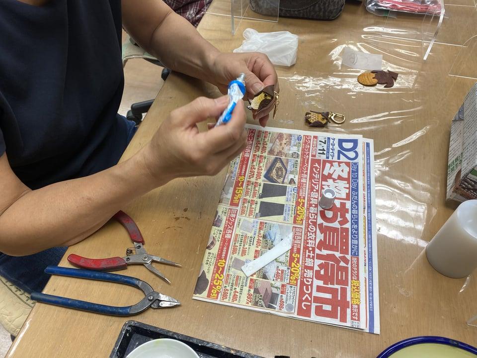 体験受講半日 レザークラフト教室 革工芸教室