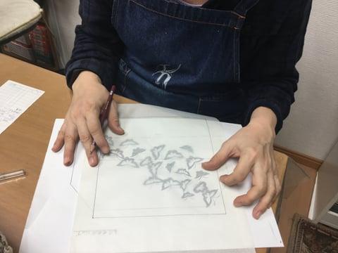 図案制作 レザークラフト教室 革工芸教室