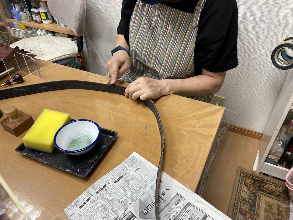 ベルト仕上げ レザークラフト教室 革工芸教室