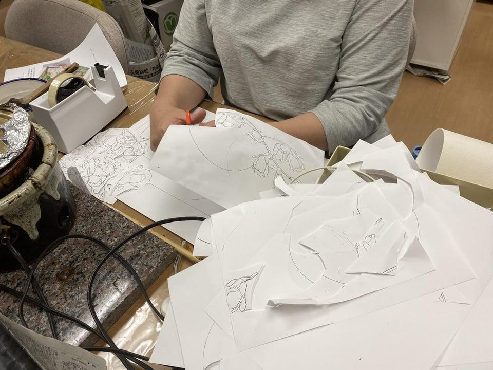 図案作り レザークラフト教室 革工芸教室