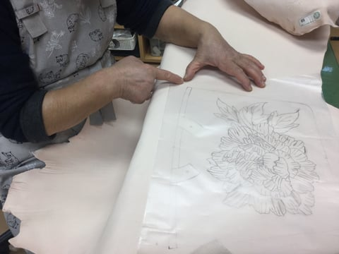 ろうけつ染図案 レザークラフト教室 革工芸教室
