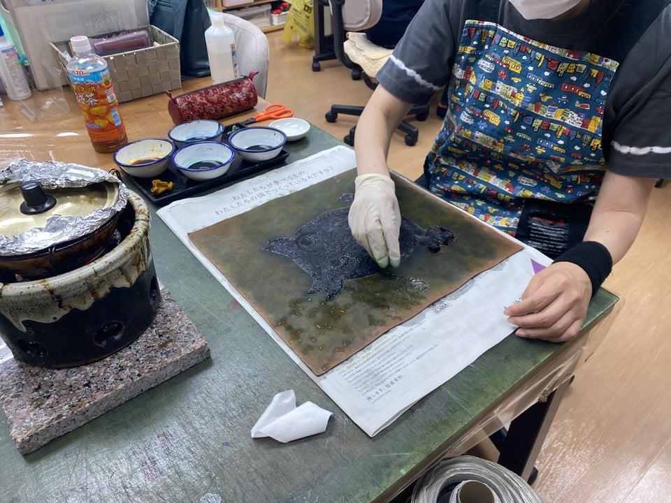 革ろうけつ染 レザークラフト教室 革工芸教室