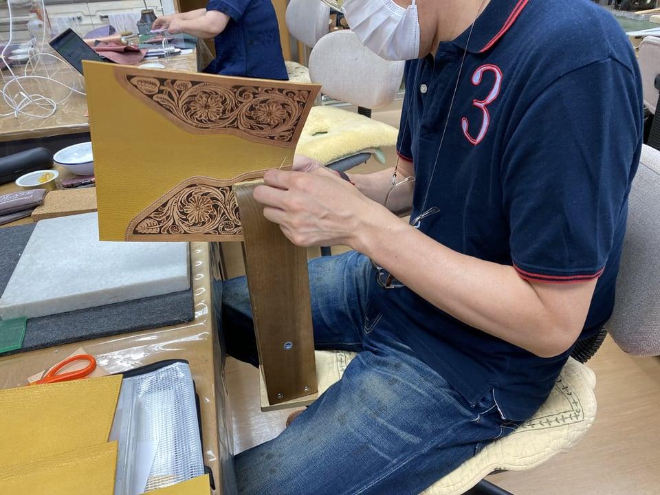 バッグ手縫い レザークラフト教室 革工芸教室