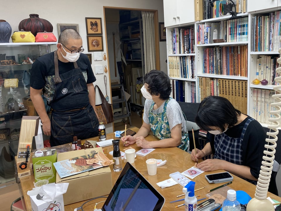立体猫講習会 レザークラフト教室 革工芸教室
