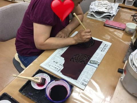 ろうけつ染ファスナー引き手 レザークラフト 教室 革工芸教室