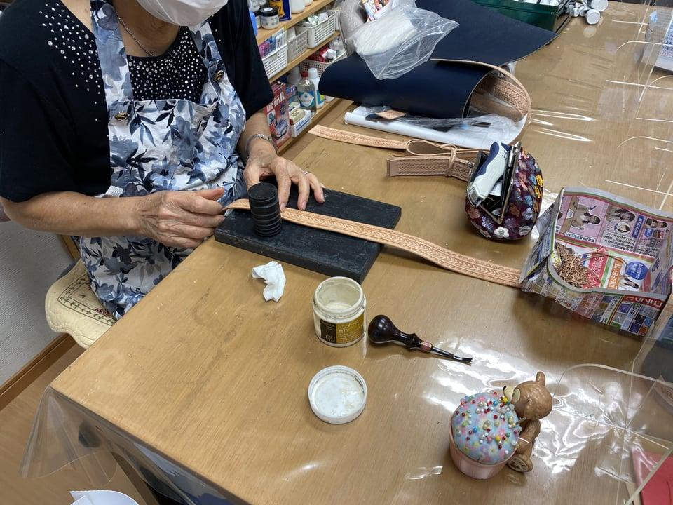 バッグ手紐 レザークラフト教室 革工芸教室