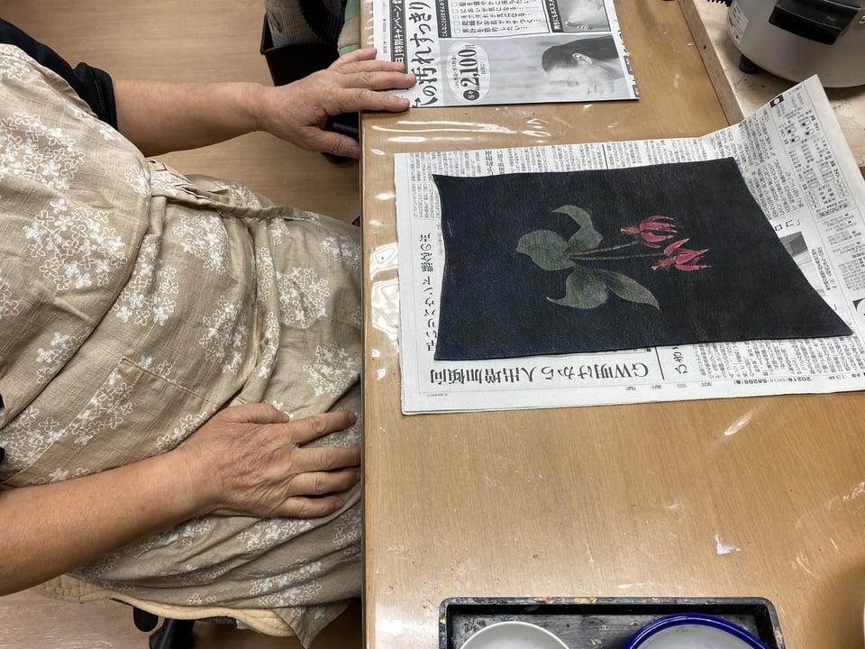 革のろうけつ染 レザークラフト教室 革工芸教室