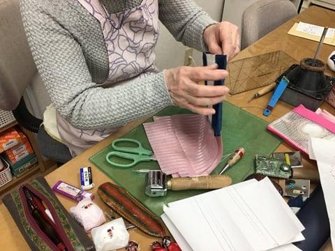 ポーチ仕立て レザークラフト教室 革工芸教室