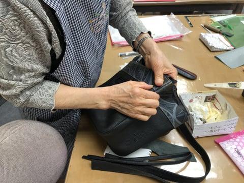 バッグ仕立て レザークラフト 教室 革工芸教室