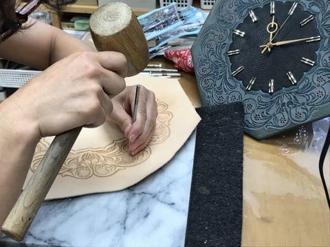 時計制作 レザークラフト教室 革工芸教室