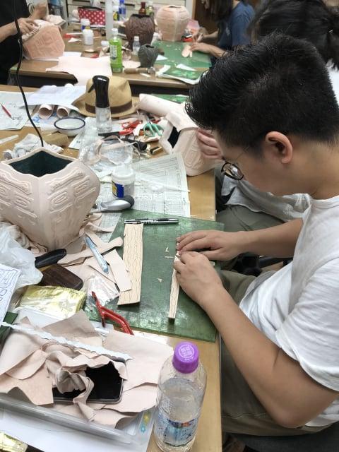 立体造形つなぎ部分 レザークラフト教室 革工芸教室