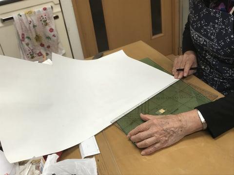 型紙起こしトートーバッグ レザークラフト教室 革工芸教室