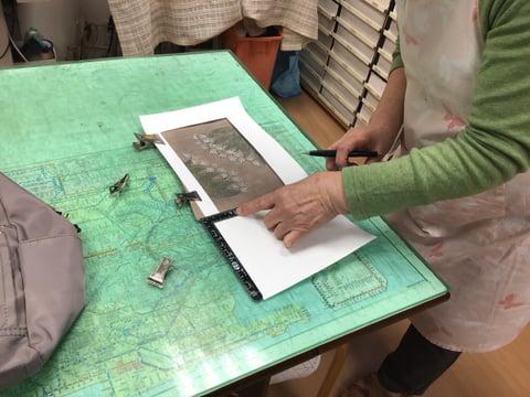 革の裁断 レザークラフト教室 革工芸教室