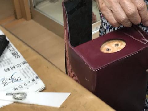 ティッシュボックス手縫い レザークラフト教室 革工芸教室