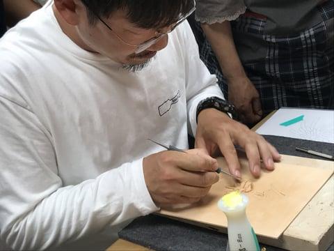 フィギュアカービング講習会 マイクロモデラ レザークラフト教室 革工芸教室
