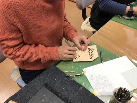 切り抜き レザークラフト教室 革工芸教室