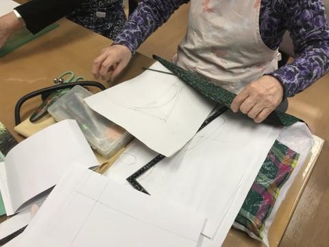 口金型紙起こし レザークラフト教室 革工芸教室