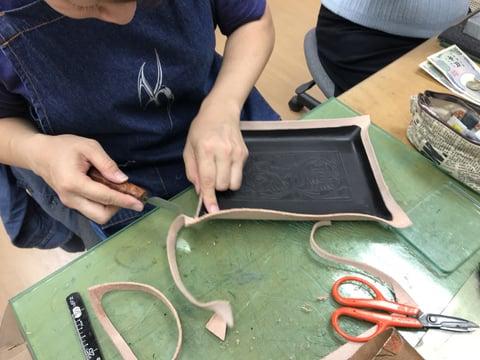 ペントレー仕立て レザークラフト教室 革工芸教室
