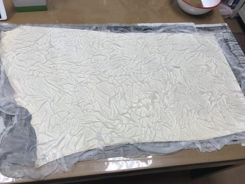 ステンド染過程1 レザークラフト 教室 革工芸教室
